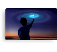 Spiral Light, UFO Canvas Print