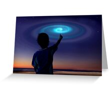 Spiral Light, UFO Greeting Card