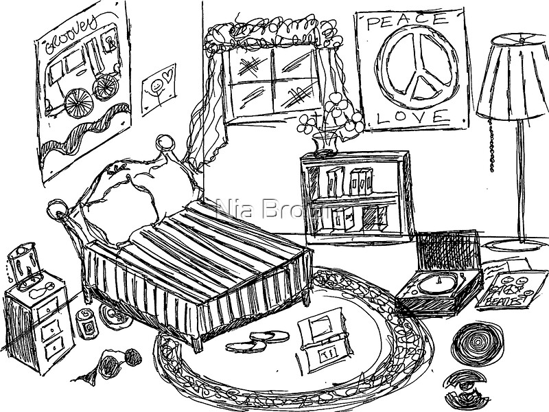 The Gallery For Gt Messy Bedroom Drawing