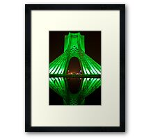 Azadi Tower (Green Reflection) -Tehran - Iran Framed Print