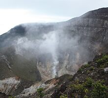 Smoking Crater of Gunung Gede by Tim Coleman