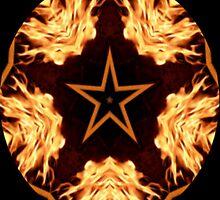 Flaming Star Kaleidoscope by judygal