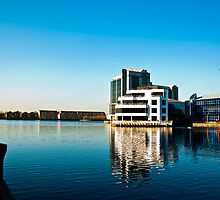 View across Millwall Dock by Rodney Bovell