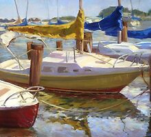 """Yellow Sails"", 24 x 30 inches, oil on canvas by DaGradi"