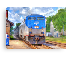 Pulling into Station Metal Print