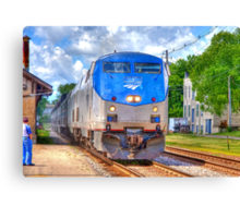 Pulling into Station Canvas Print