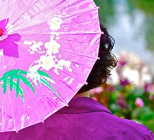 Spring Festival ~ the Purple Parasol by Roxanne Persson