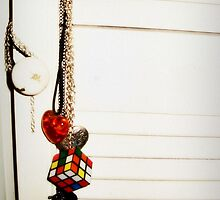 Necklaces on closet door by BreeBree