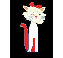 White Kitty Kat Photographic Print