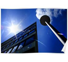 Sun Building Lamp Architecture Architectural Prints on Sale Poster