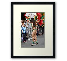 What do you think of my dancing? Framed Print