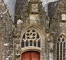 Ornate Church Facade - Rochefort-en-Terre  - Brittany, France by Buckwhite