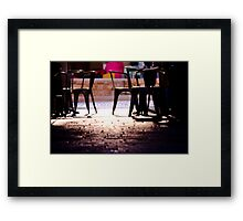 coffee place  Framed Print