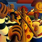 Soft  Musicians in landscape by Alan Kenny