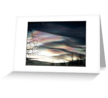 """""""Mother Of Pearl Clouds 1"""" Greeting Card"""