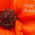 Poppy Birthday Card by sarnia2
