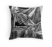 The model was dead boring Throw Pillow