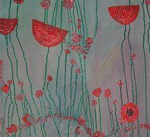 poppies on cement by BAKATARAP