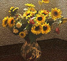 Flowers in Vase by David's Photoshop