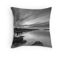 Behind the Harbour Walls II Throw Pillow