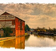 The Wharf At Ellesmere  by David J Knight
