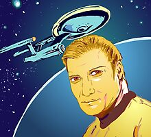 Captain James T Kirk by BurgerSauce