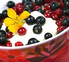 Summerfresh Lunch with Berries and Tropaeolum majus by SmoothBreeze7