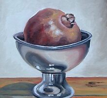 Pomegranate in a bowl by tanyabond