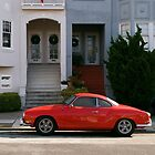 Red Karmann Ghia by Sam Scholes