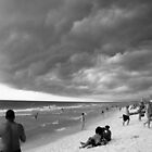 Angry Sky on Destin Beach by Kent Nickell