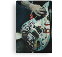 Green Day Rock Band Canvas Print
