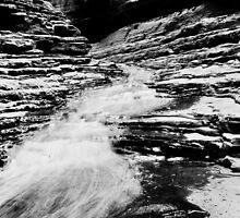Rushing Water - Spider Walk, Karijini NP by Aaron Fisher