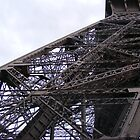 LOOKING UP INTO THE TOUR D'EIFFEL by gracestout2007