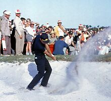 Golfing Legends: Gary Player - Australian Open Golf, The Lakes, Sydney, 1964  by Adrian Paul