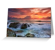 Red Sky at Dawn Greeting Card