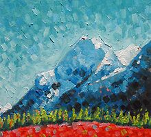 "peak • tilen's 6""x 6"" oil painting •  by tilen"