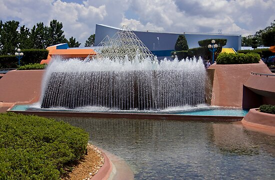 EPCOT Waterfall Fountain by Russell Fry