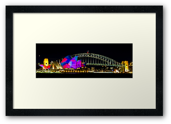 Sydney Opera House & Harbour Bridge - Vivid Festival by Bryan Freeman