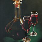 Carafe and Glasses by Alan Stevens