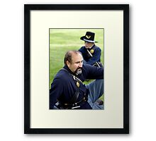 Union Soldier Contemplating the Coming Battle Framed Print