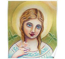 Angel with a Dogwood Flower Poster