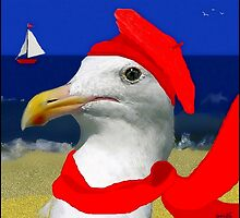 Portrait of a French Seagull by paintingsheep