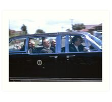 A President, Prime Minister and Premier,Sydney, NSW., Australia (1966) Art Print