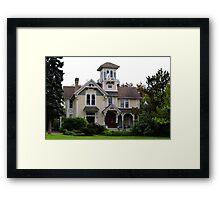 Victorian Era Home wtih lots of Gingerbread Framed Print