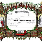 Old wedding certificate by Jeffrey  Sinnock
