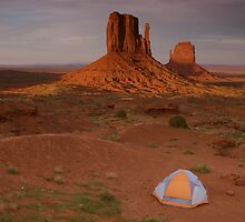 Monument Valley camping by David Galson