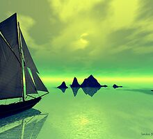 Mysterious Voyage by Sandra Bauser Digital Art