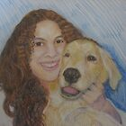 Dog With Her Girl by Celeste Schor