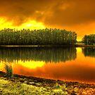 'Blaze on Trout lake', Pemberton, WA by BigAndRed