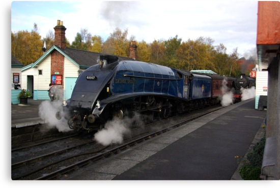 Steam at Grosmont  - North Yorks. by Trevor Kersley